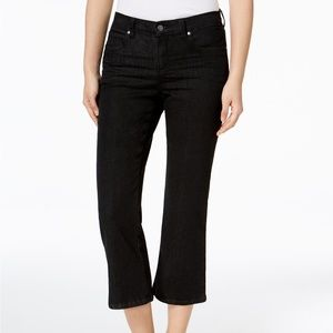 Eileen Fisher Organic Cotton Cropped Flared Jeans